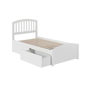 Atlantic Furniture Metro Twin Xl Platform Bed With Matching Foot Board With 2 Urban Bed Drawers In Walnut In The Beds Department At Lowes Com