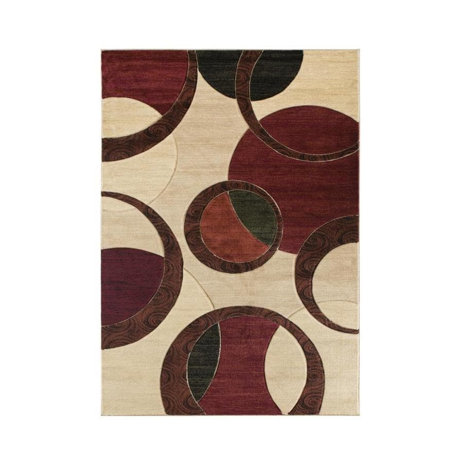 Mda Rugs Seville 2 X 3 Beige Red Indoor Abstract Area Rug In The Rugs Department At Lowes Com