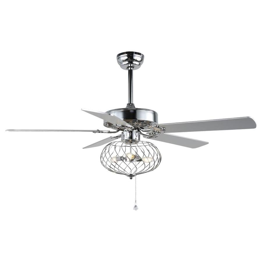 Bella Depot Chandelier Ceiling Fan 52 In Chrome Led Indoor Ceiling Fan With Light And Remote 5 Blade In The Ceiling Fans Department At Lowes Com