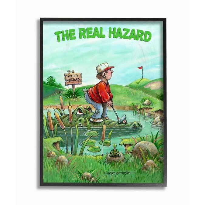Stupell Industries Stupell Industries The Real Hazard Funny Golf Cartoon Sports Design Oversized Framed Giclee Texturized Art 16 X 1 5 X 20 In The Wall Art Department At Lowes Com