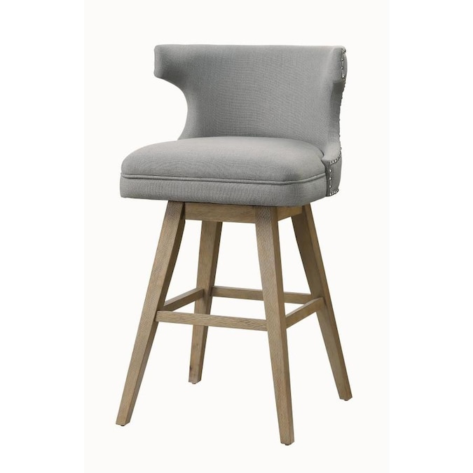 Acme Furniture Everett Bar Chair Set 2 In Fabric And Oak In The Dining Chairs Department At Lowes Com