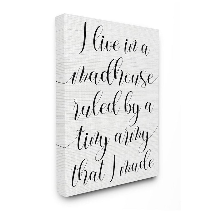 24 x 30 White Stupell Industries Madhouse Ruled by Children Phrase Family Humor Wall Art