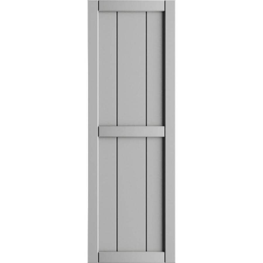 Ekena Millwork 16 1 8 In W X 39 In H True Fit Pvc Three Board Framed Board N Batten Shutters Hailstorm Gray Per Pair Hardware Not Included In The Exterior Shutters Department At Lowes Com