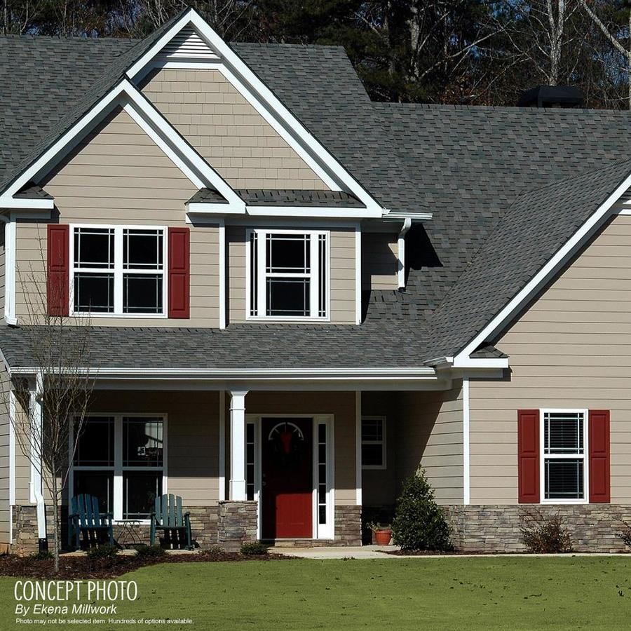 Ekena Millwork 21 1 2 In W X 40 In H True Fit Pvc Four Board Framed Board N Batten Shutters Thermal Green Per Pair Hardware Not Included In The Exterior Shutters Department At Lowes Com