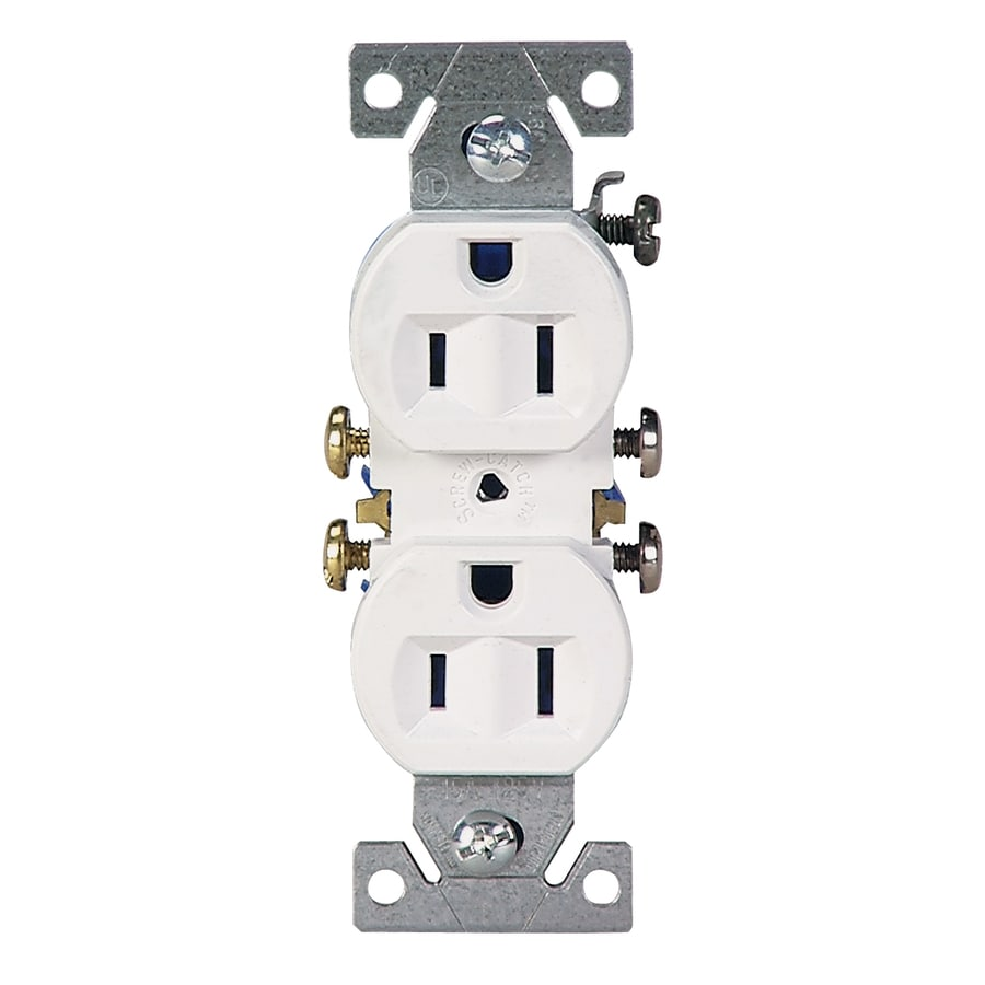 shop electrical outlets at com eaton 10 pack 15 amp 125 volt indoor duplex wall outlet
