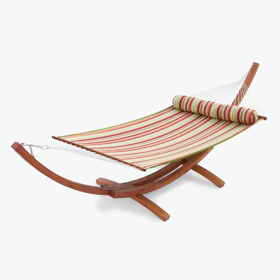 RST Brands Summer Stripe Quilted Hammock with Stand