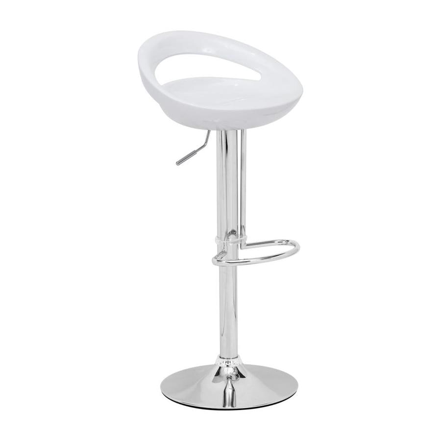 Zuo Modern Tickle White 31.9-in Bar Stool