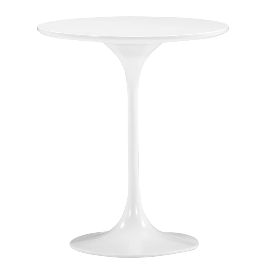 Zuo Modern Wilco White Round End Table