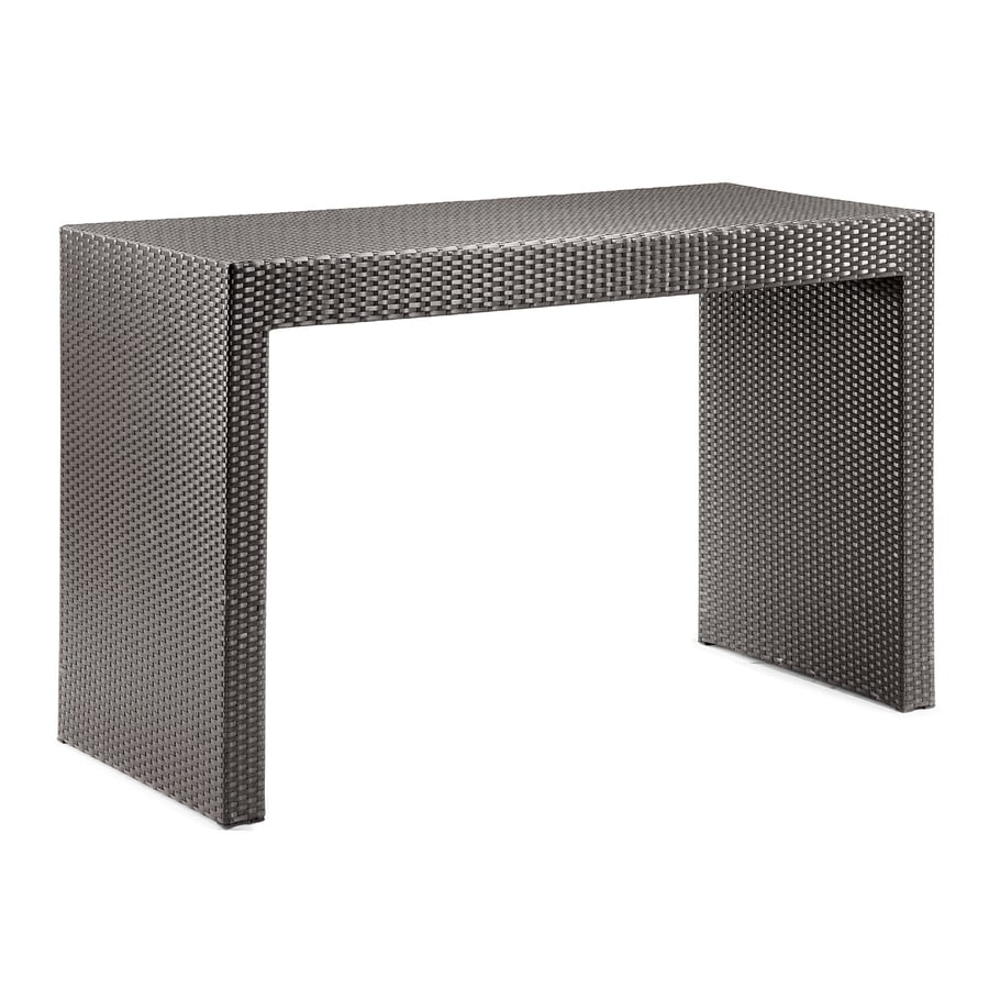 Shop Zuo Modern 27 5 In X 63 In Rectangle Glass Patio Bar
