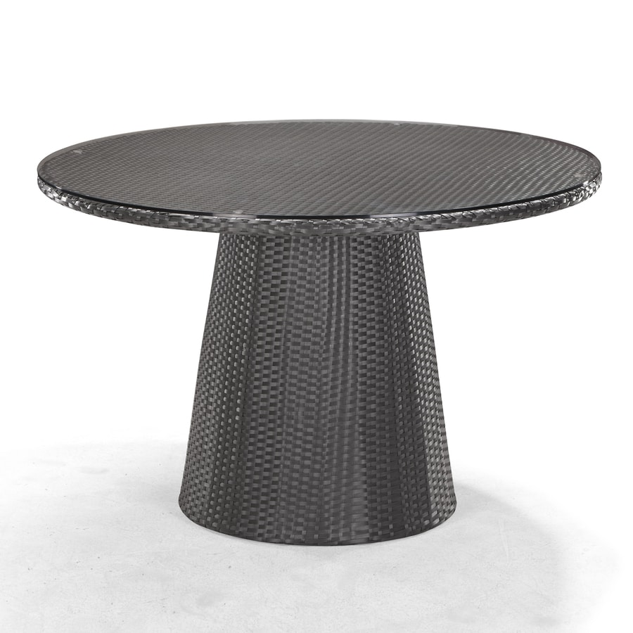 Zuo Modern Avalon 47.3-in W x 47.3-in L Round Wicker Dining Table