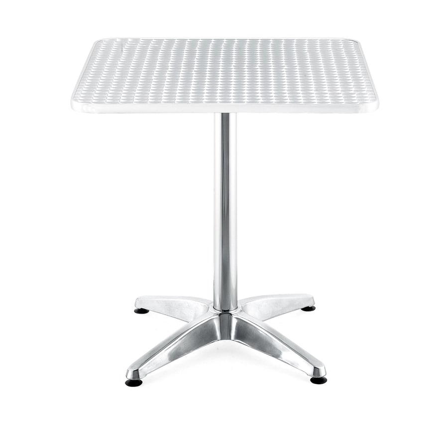 Zuo Modern Christabel Chrome Square Dining Table