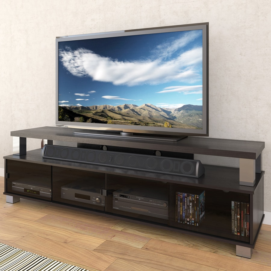 Shop Corliving Bromley Ravenwood Black Tv Cabinet At Lowes Com