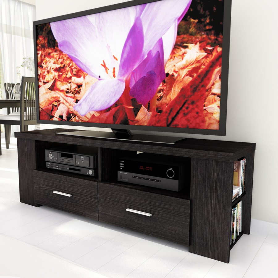 CorLiving Bromley Ravenwood Black Rectangular Television Cabinet