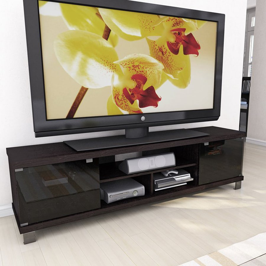 CorLiving Holland Ravenwood Black Rectangular TV Cabinet