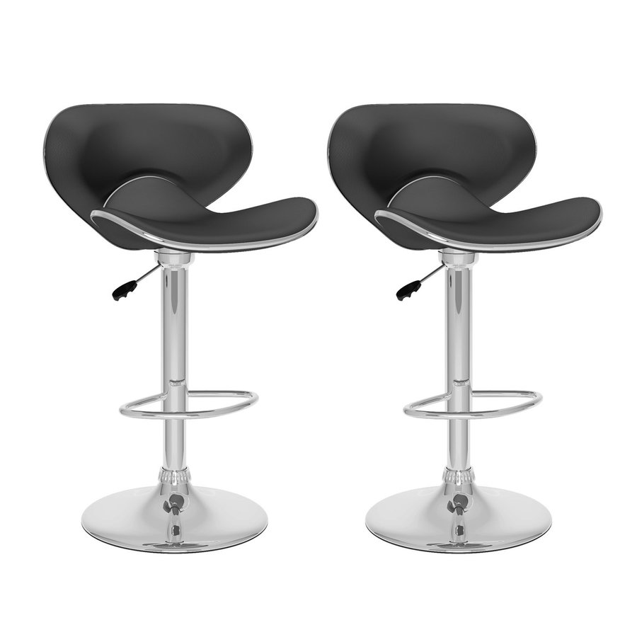 CorLiving Black/Chrome Adjustable Stool