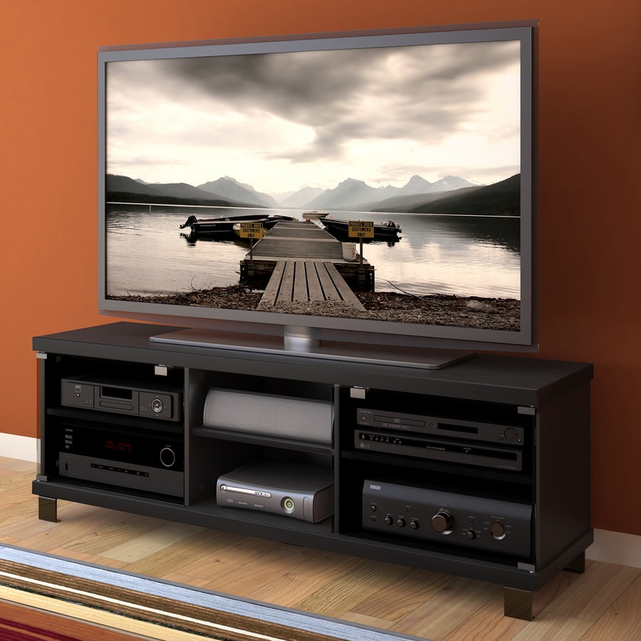 CorLiving Holland Midnight Black Rectangular TV Cabinet