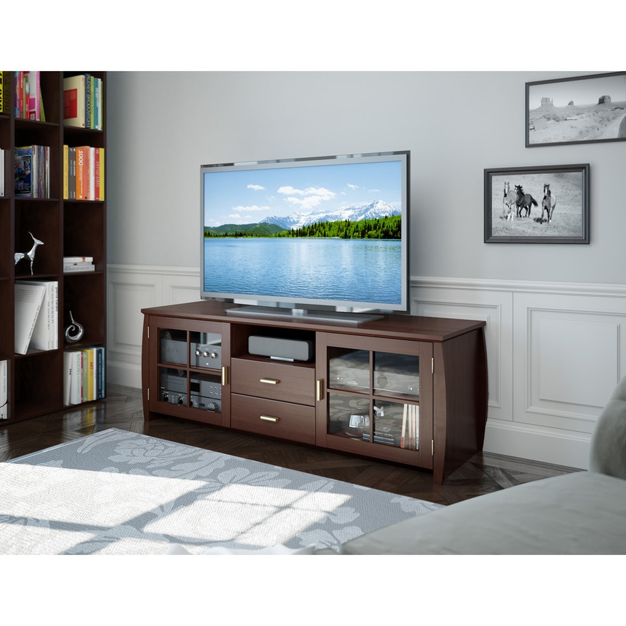 CorLiving Washington Espresso Rectangular TV Cabinet