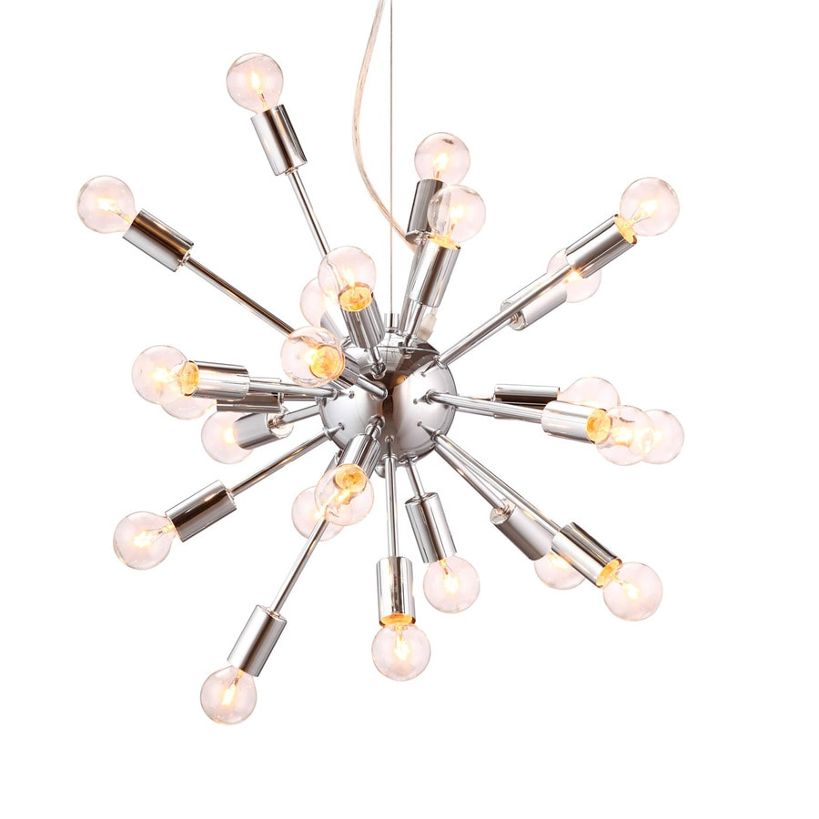 Zuo Modern Pulsar 22.6-in Chrome Multi-Light Pendant