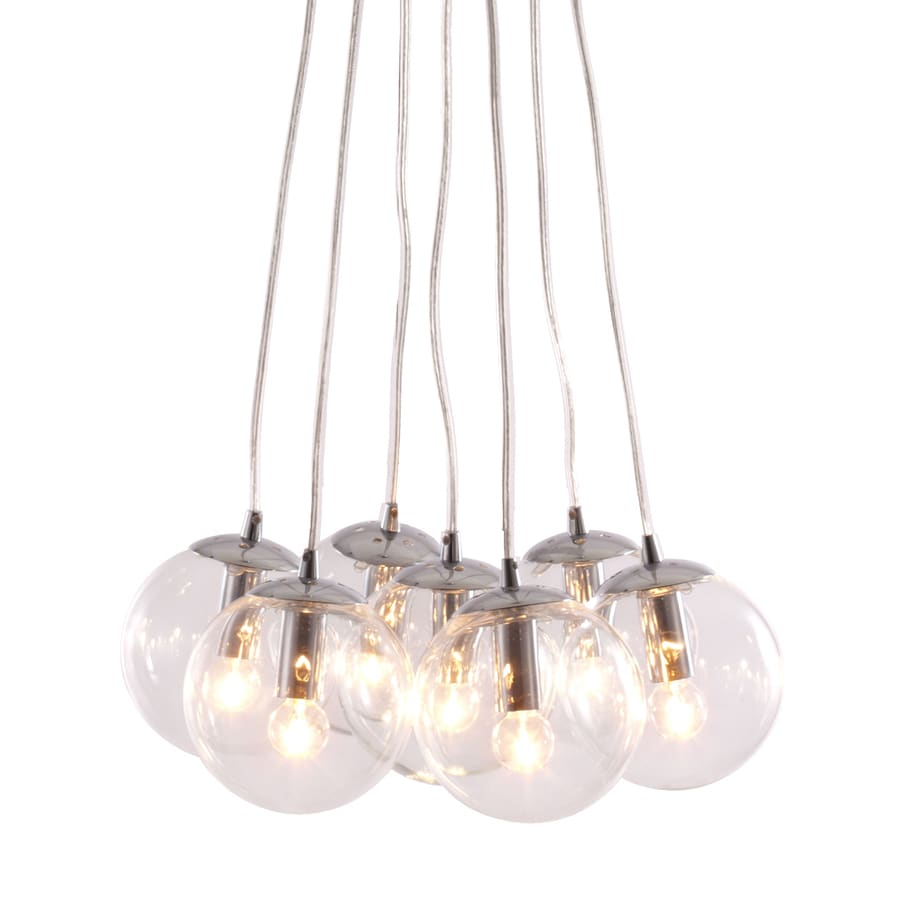Zuo Modern Decadence 17.7-in Multi-Light Clear Glass Globe Pendant
