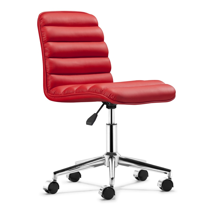 Zuo Modern Admire Red Synthetic Task Office Chair