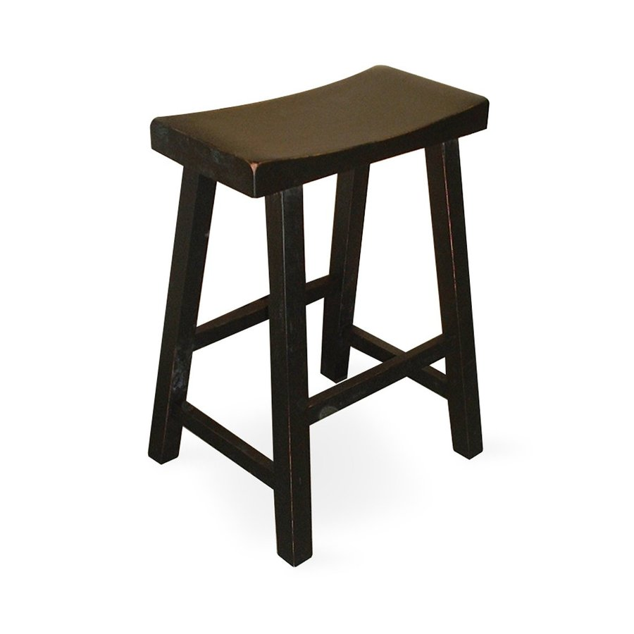 International Concepts Casual Black Counter Stool