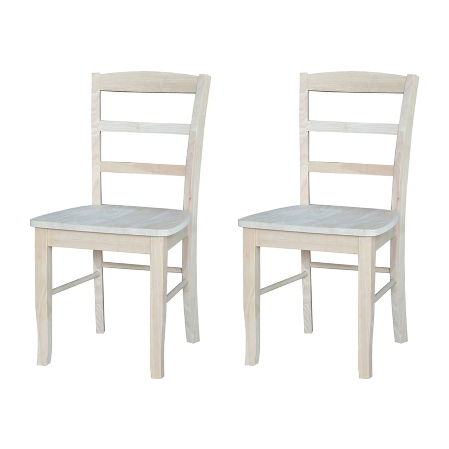 International Concepts Set of 2 Madrid Natural Side Chairs