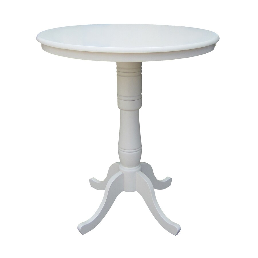 International Concepts Linen White Round Dining Table