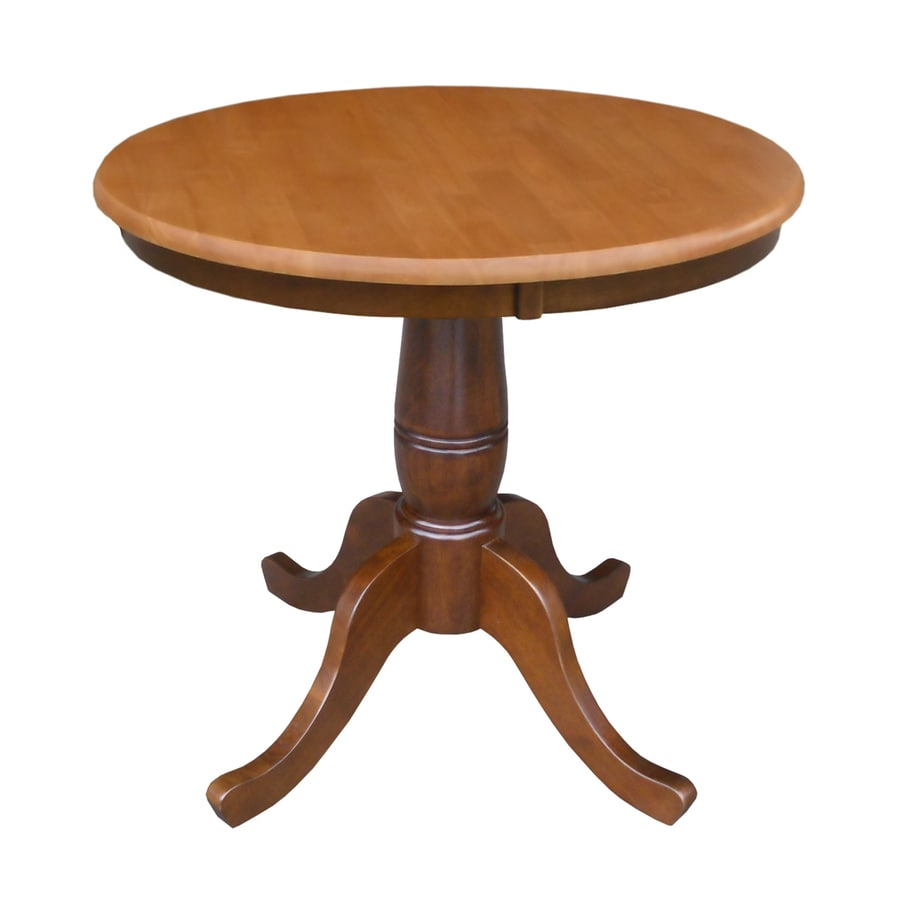 Round Kitchen Table Cinnamon Color