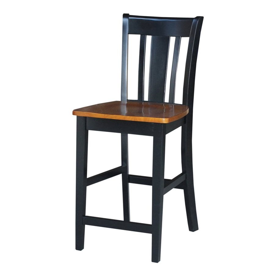 International Concepts San Remo Black/Cherry 24-in Counter Stool