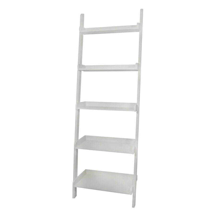 International Concepts White 5-Shelf Bookcase
