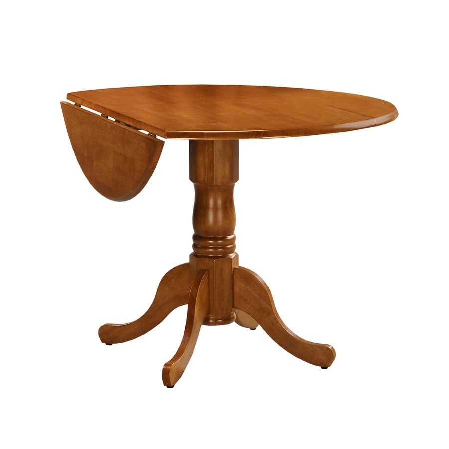 International Concepts Wood Round Extending Dining Table