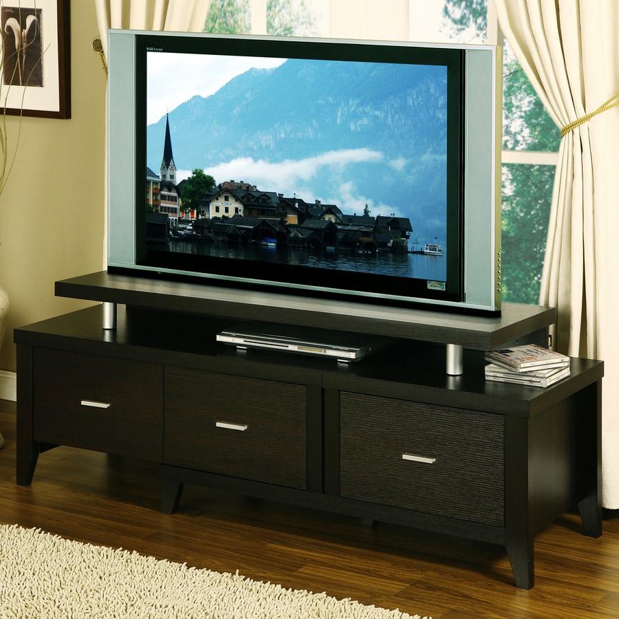 bathroom cabinets with drawers shop enitial lab jyro cappuccino tv cabinet at lowes 11406