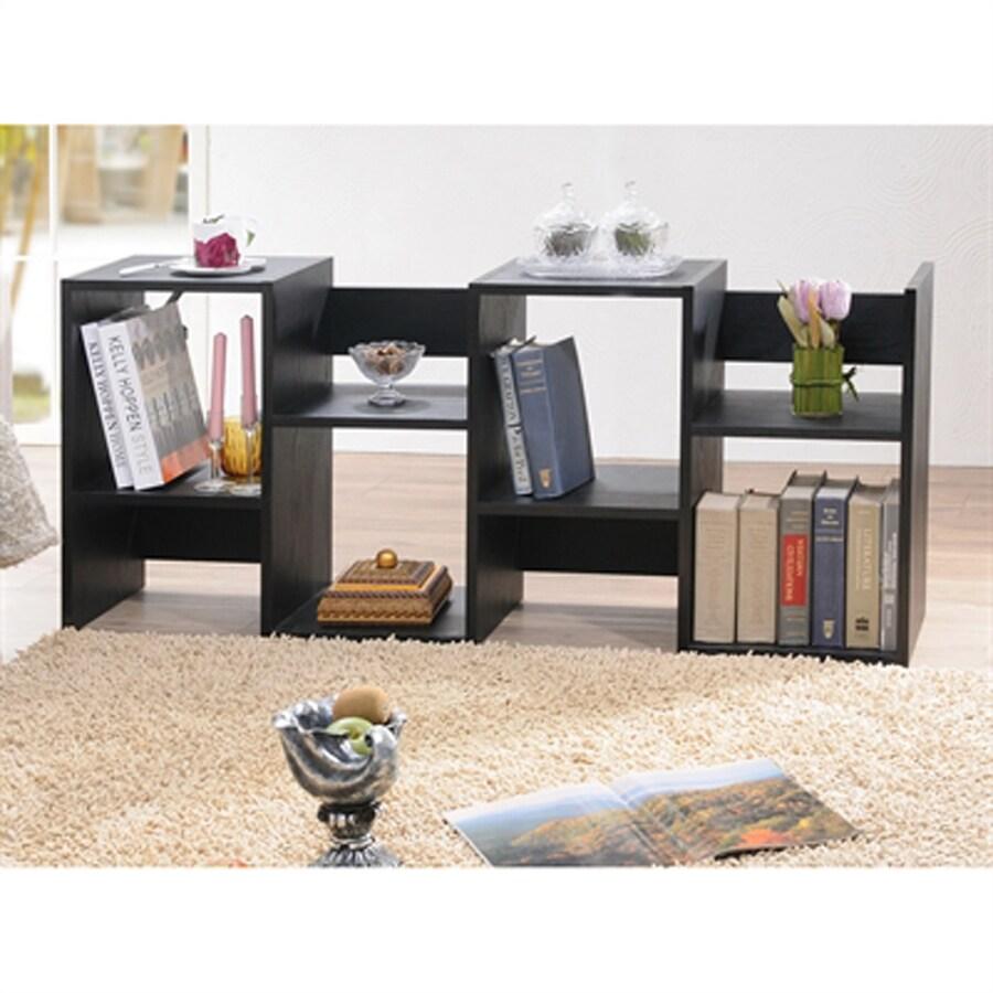 Enitial Lab Vina Black 24-in W x 53-in H x 12-in D 8-Shelf Bookcase