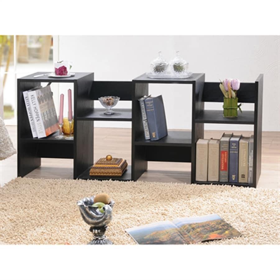 Enitial Lab Vina Black 8-Shelf Bookcase