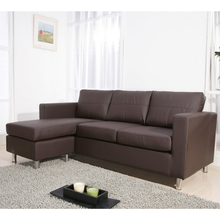 Enitial Lab Mona Brown Bonded Leather Sectional