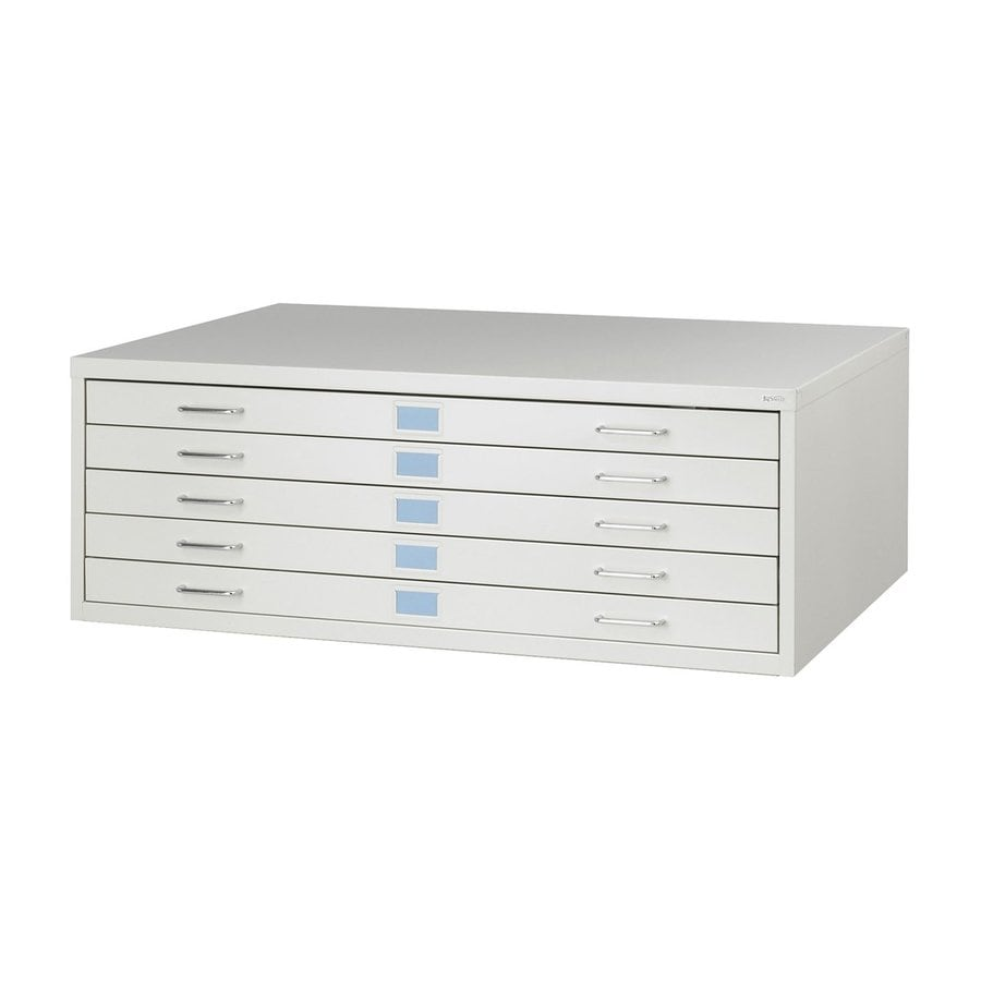 Safco Facil Light Gray 5-Drawer File Cabinet