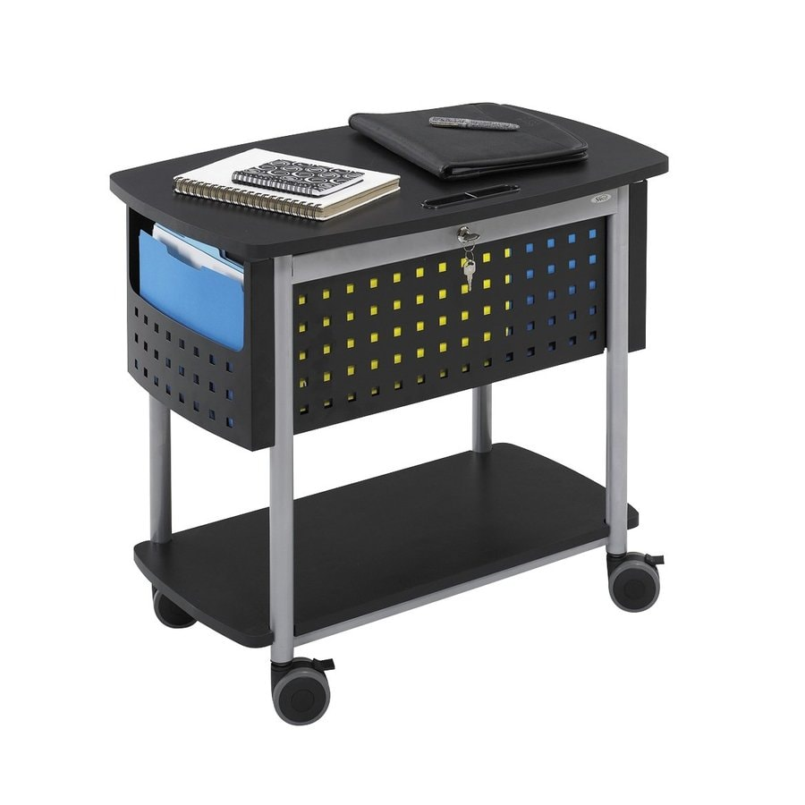 Safco Scoot Black File Cabinet