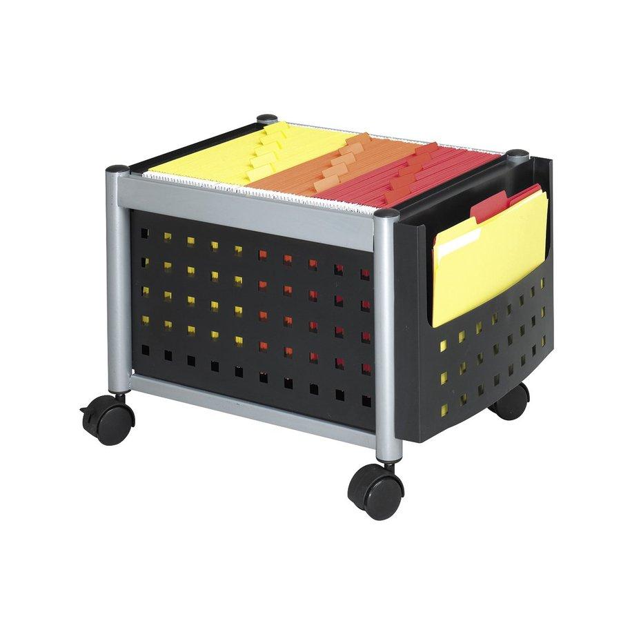 Safco Mini Scoot Black File Cabinet