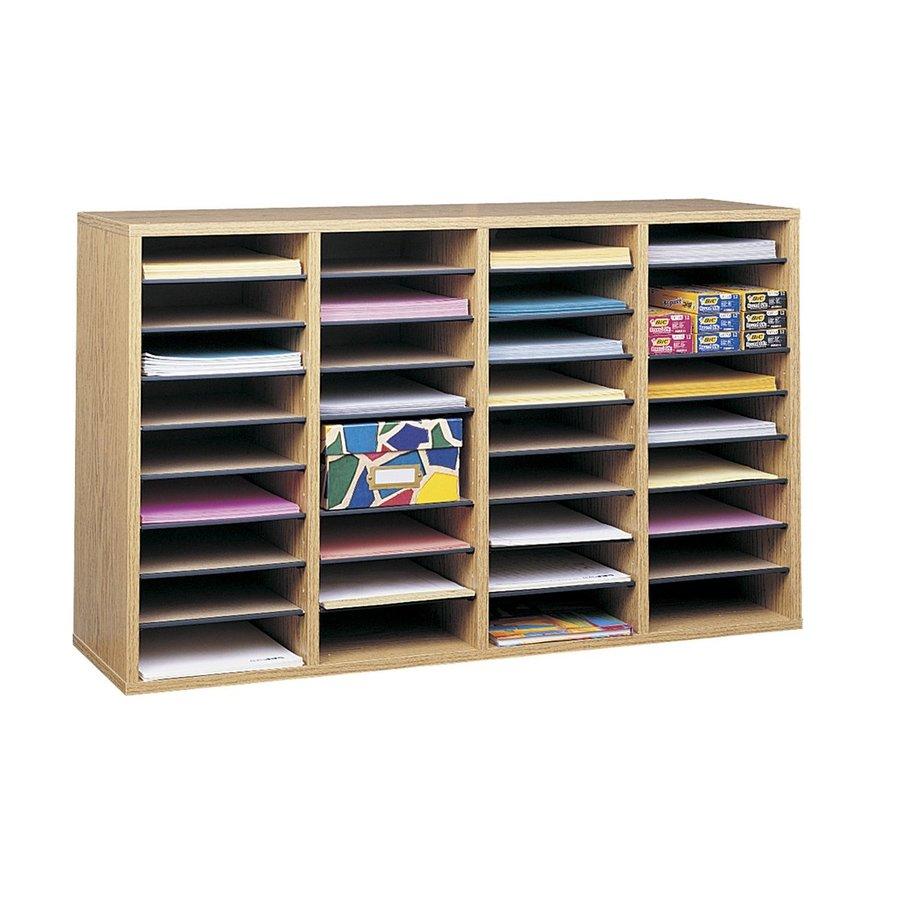 Safco Medium Oak File Cabinet