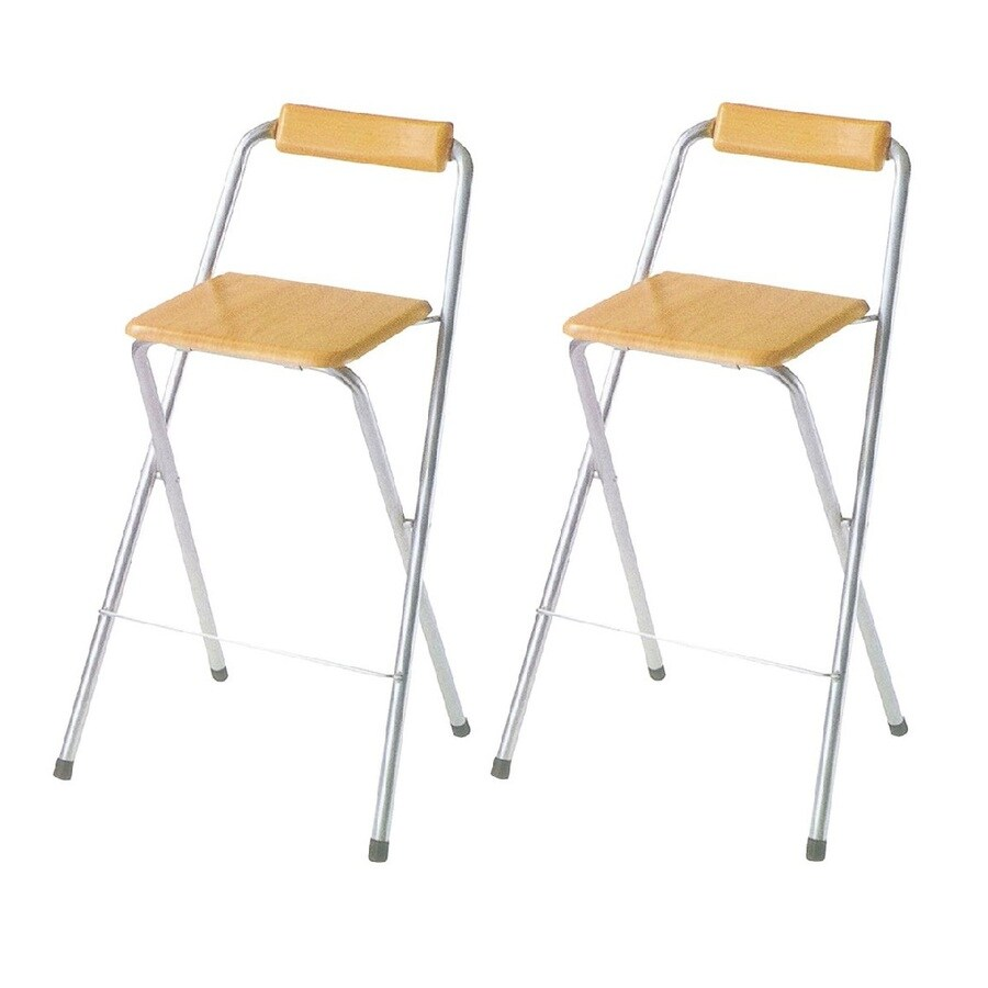 ORE International 2-Pack Metallic Standard Folding Chairs