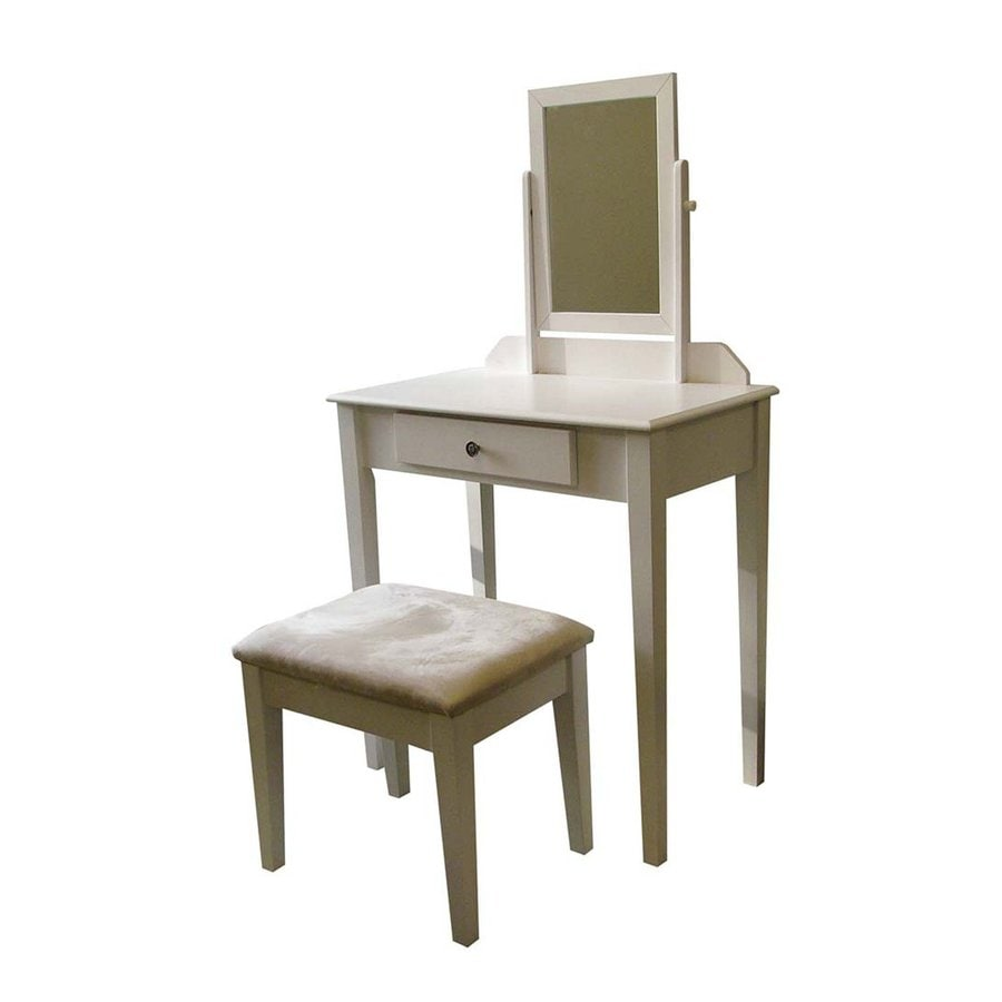 Shop ORE International White Makeup Vanity at Lowes.com White Vanities For Bedroom on white end tables for bedrooms, white night stands for bedrooms, white mirrors for bedrooms, white entertainment centers for bedrooms, white shelves for bedrooms, white ceiling fans for bedrooms, white cupboards for bedrooms, white paint for bedrooms, white wall colors for bedrooms, white dressers for bedrooms, white furniture for bedrooms, white lamps for bedrooms, white chandeliers for bedrooms, white rugs for bedrooms,