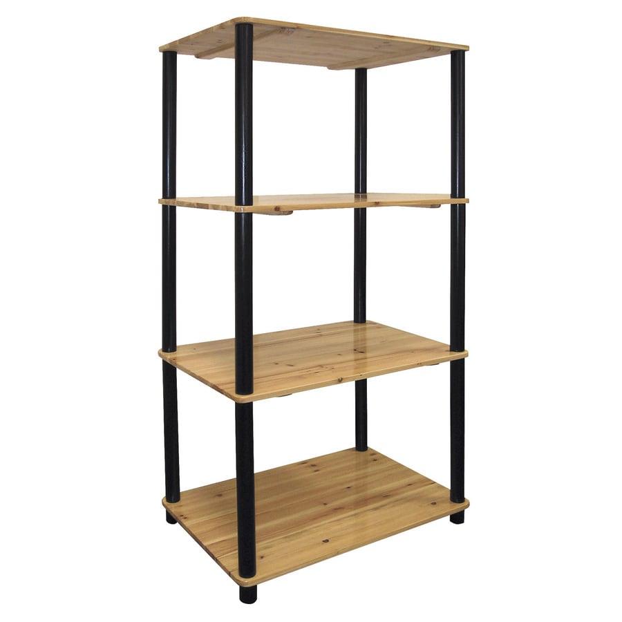 ORE International Light Pinewood 23.5-in W x 44-in H x 15.5-in D 4-Shelf Bookcase