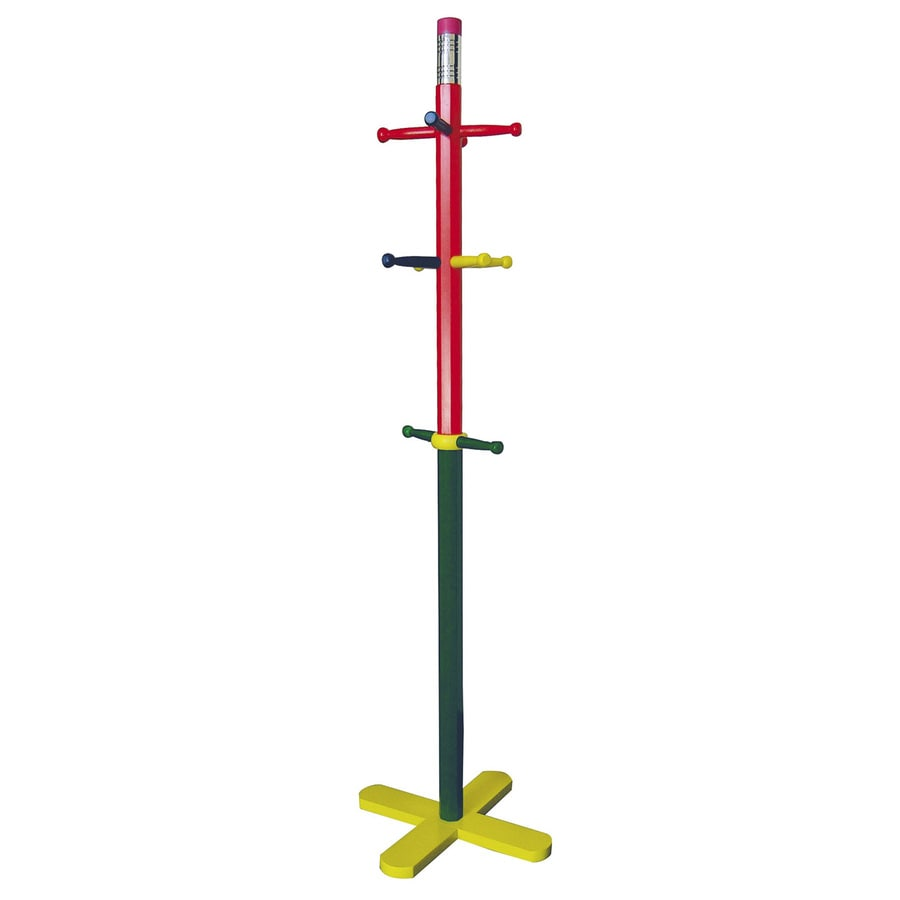 ORE International Multicolor 10-Hook Coat Stand