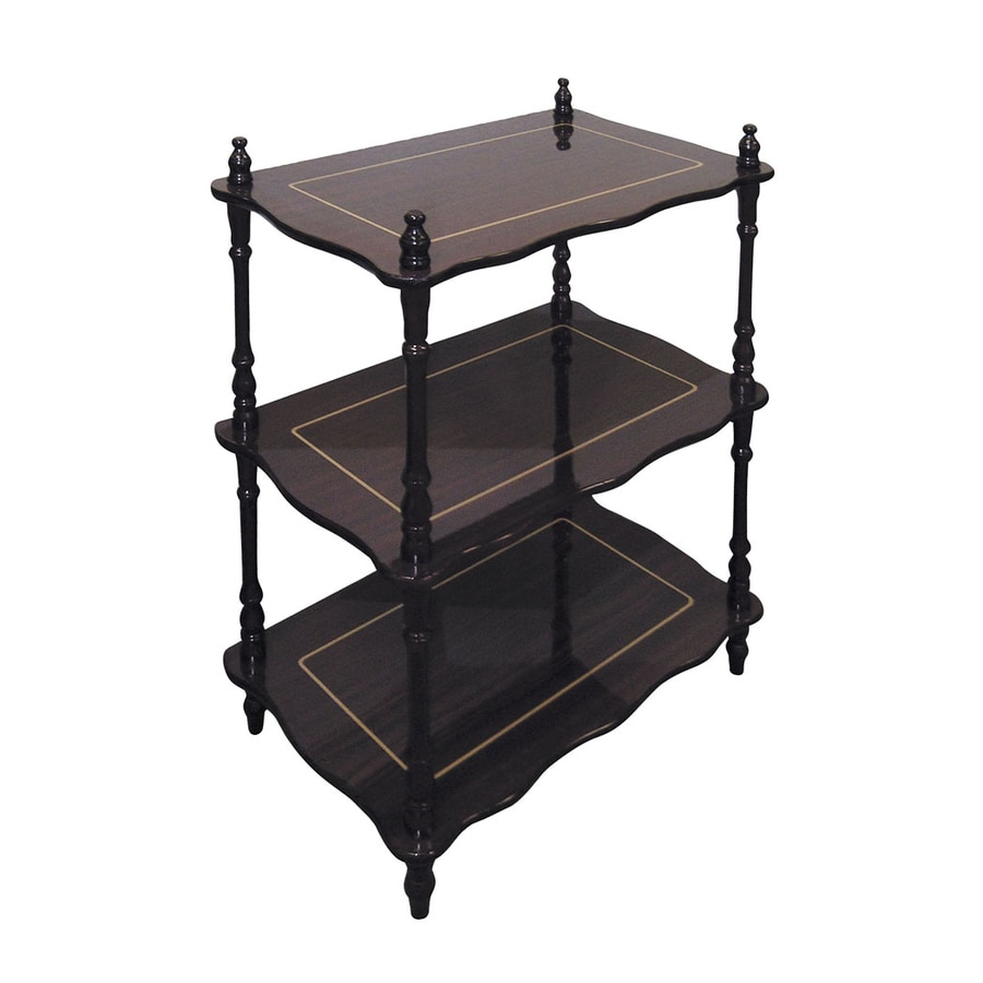 ORE International 26-in H x 19-in W x 12-in D 3-Tier Wood Freestanding Shelving Unit