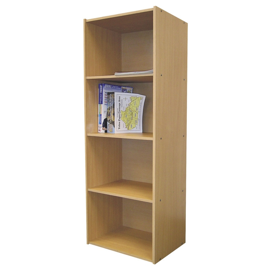 ORE International Natural 16.5-in W x 47-in H x 12-in D 4-Shelf Bookcase