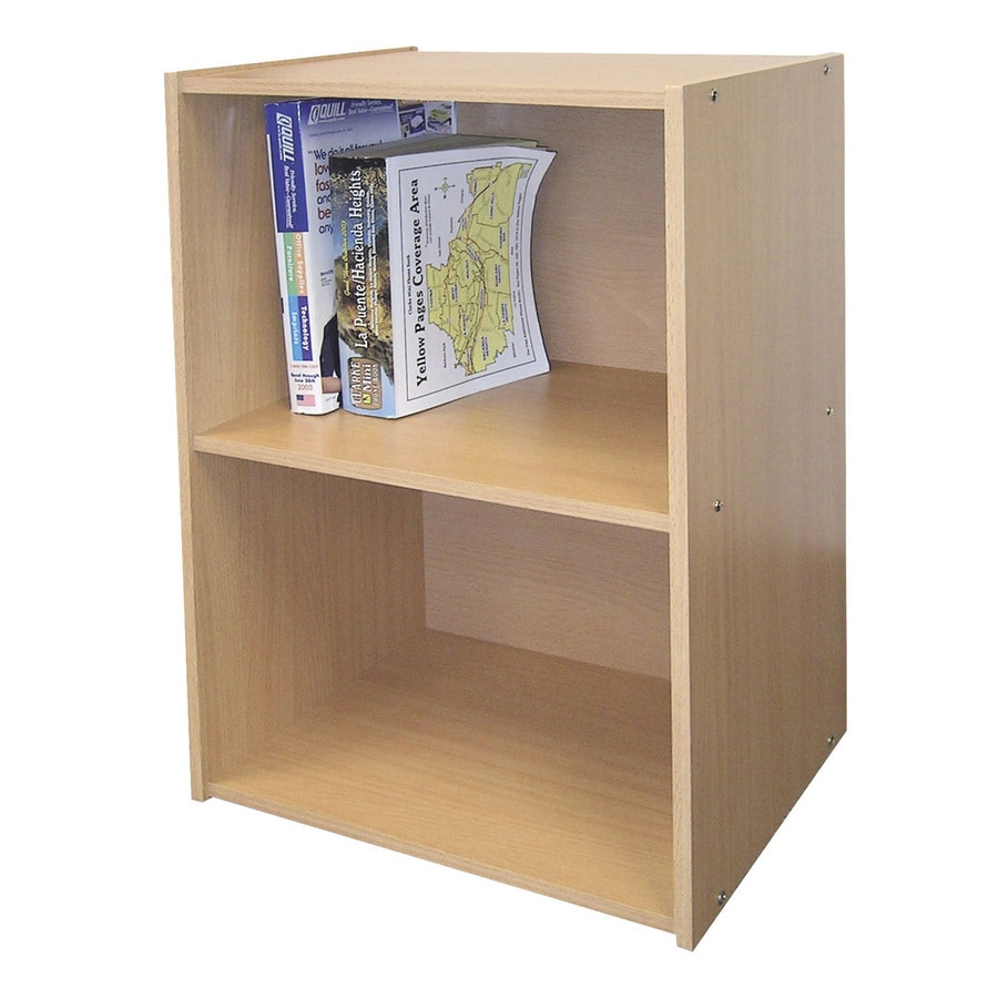 ORE International Natural 16.5-in W x 24-in H x 12-in D 2-Shelf Bookcase