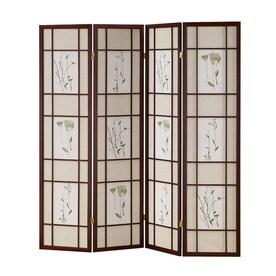 Elegant ORE International Fabric Folding Indoor Privacy Screen