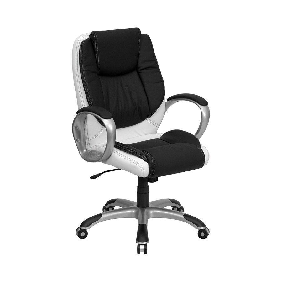 Flash Furniture Black and White Faux Leather Executive Office Chair