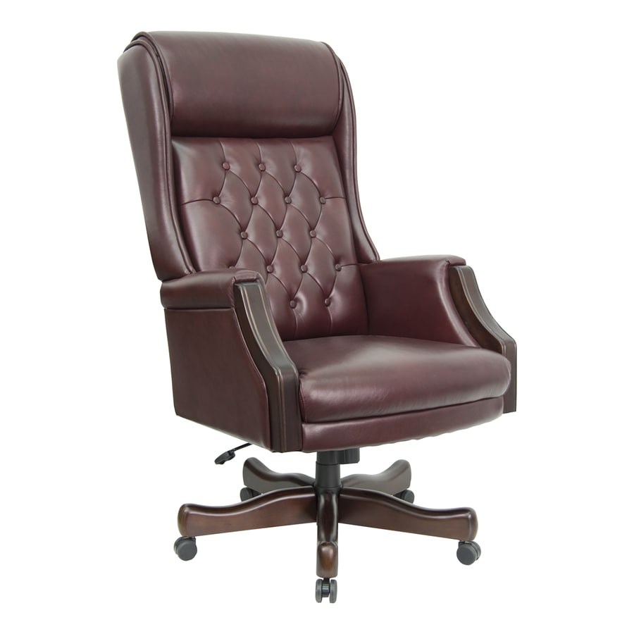 Flash Furniture Mahogany/Burgundy Top Grain Leather Traditional Executive  Chair