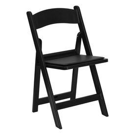 Flash Furniture Indoor/Outdoor Resin Black Standard Folding Chair